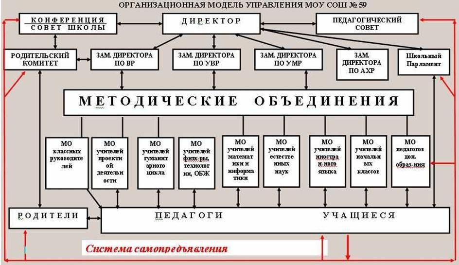 структуры школы